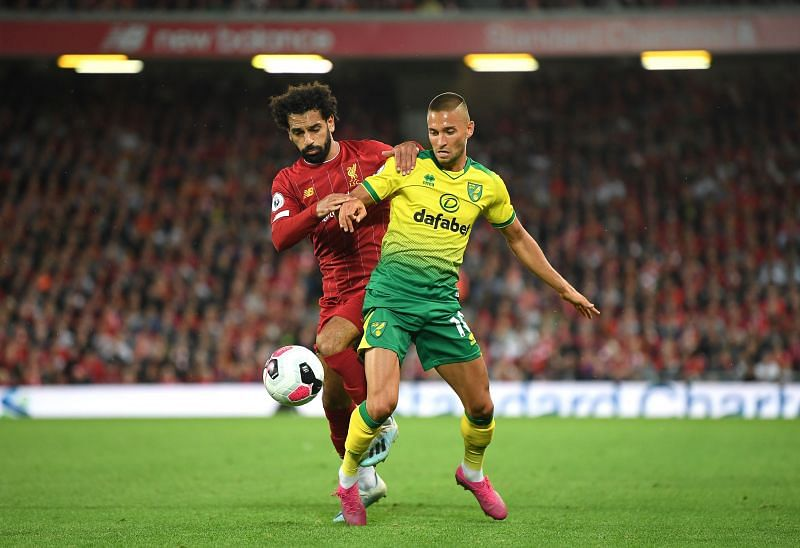 Liverpool take on Norwich City in one of two Premier League games on Saturday