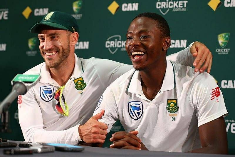 Faf du Plessis and Kagiso Rabada