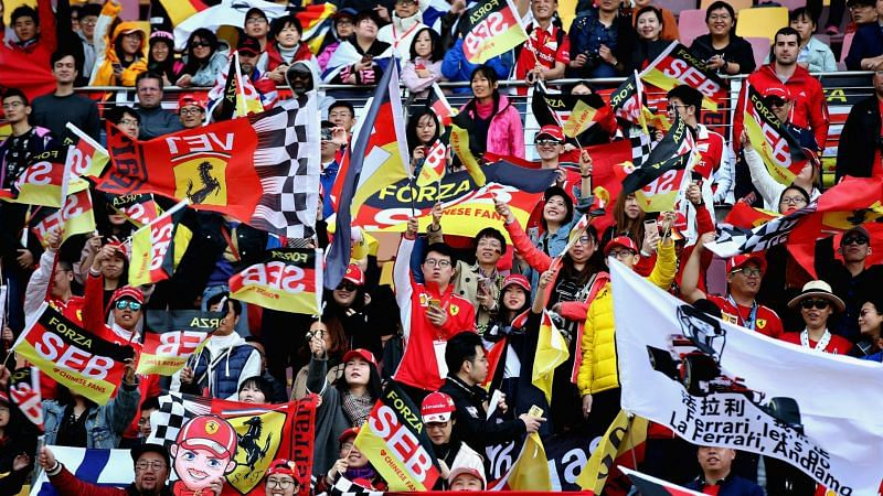 Formula One fans in China - cropped