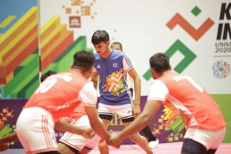 Kabaddi competition in Khelo India University Games 2020