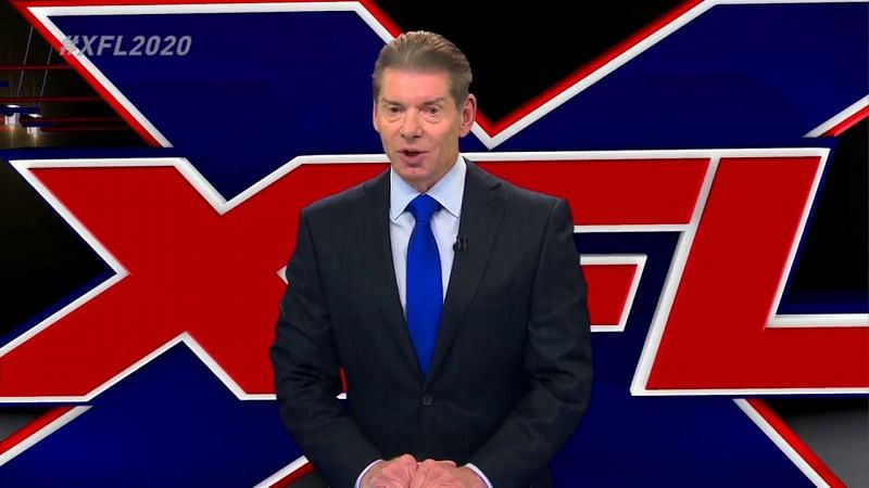 Vince McMahon announcing the relaunched XFL