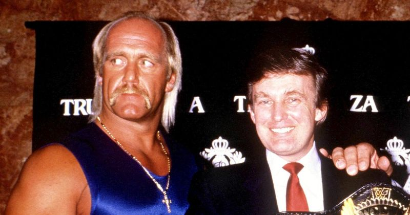 Hulk Hogan with the future 45th president of the United States