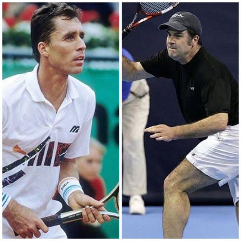 Lendl (left) never lost to Mayotte in 17 meetings