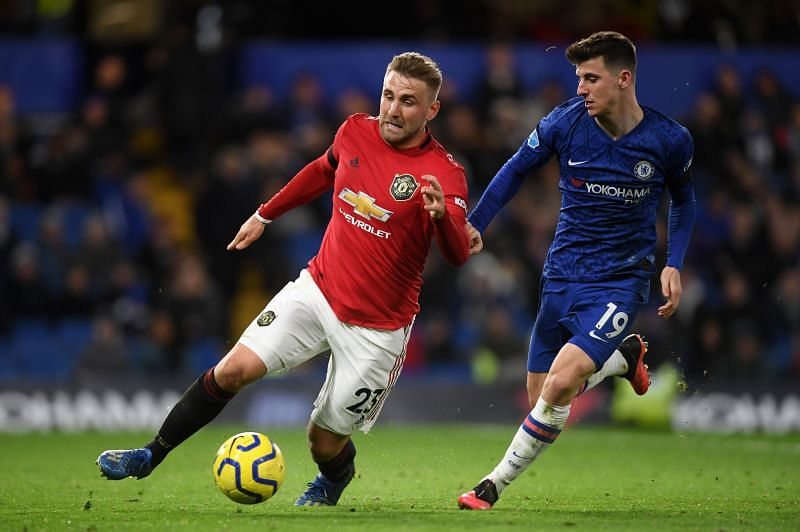 United edged ahead in a close first half at Stamford Bridge