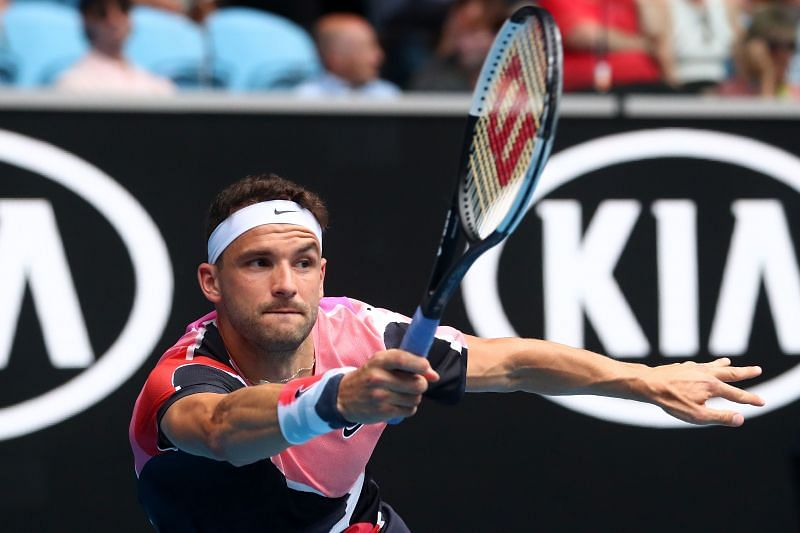 Dimitrov is susceptible to the occasional slip as was seen yet again in Melbourne
