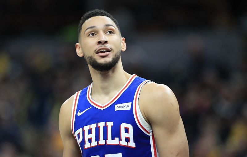 Simmons played less than five minutes against the Bucks