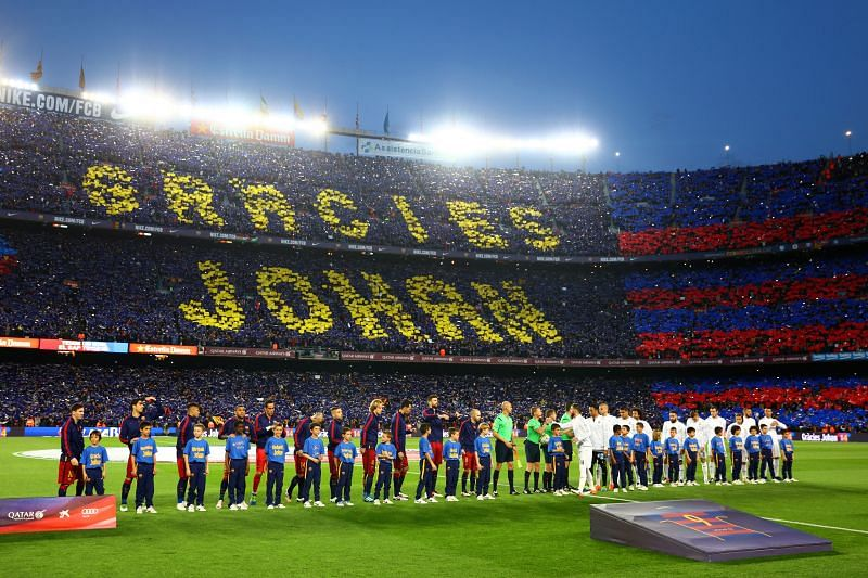 John Cruyff will forever be remembered at the Camp Nou