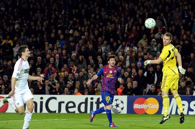 Just like that ball, Messi sent Leverkusen flying out of the park