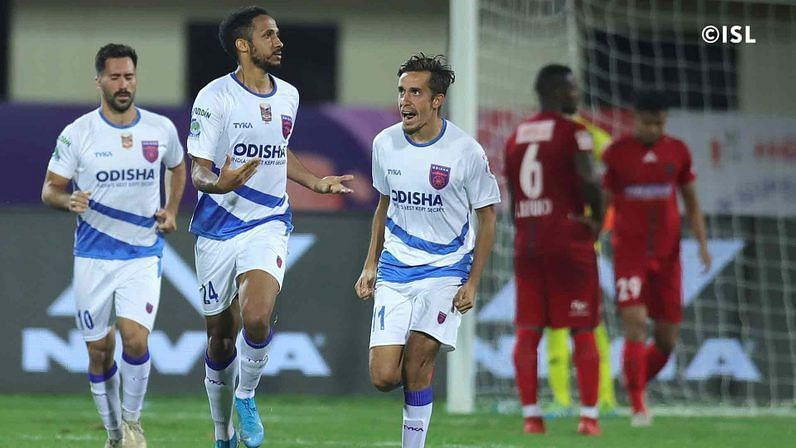 Odisha FC took the lead through Onwu at the start of the second half. (Image: ISL)