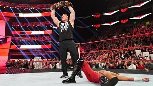 Brock Lesnar versus Ricochet should not be a squash match.