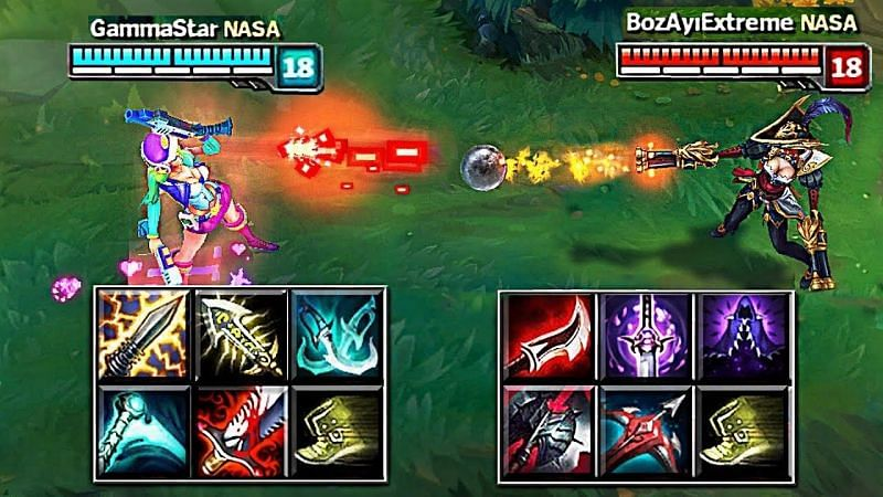 Crit Miss Fortune is doing much better than her Lethality Counterpart (image uploaded by LOL Slow Motions)
