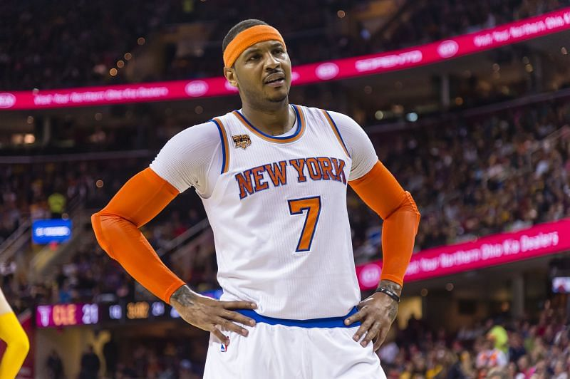 Carmelo Anthony spent seven seasons with the New York Knicks before leaving in 2017