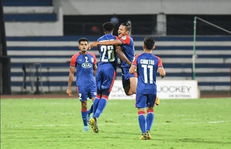 Bengaluru FC players celebrate a goal
