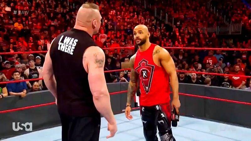 Brock Lesnar versus Ricochet. Who wins?