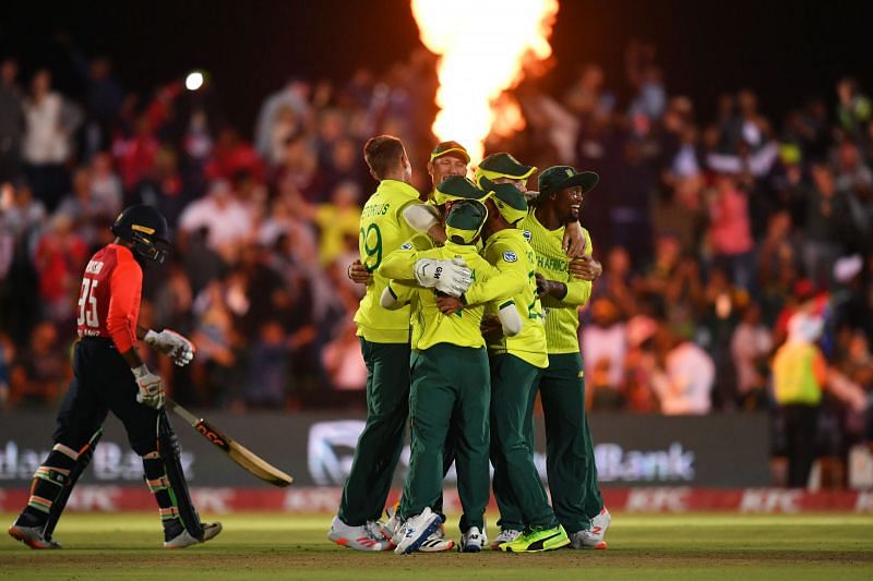 South Africa won their first T20I against England by just one run in a last-ball humdinger