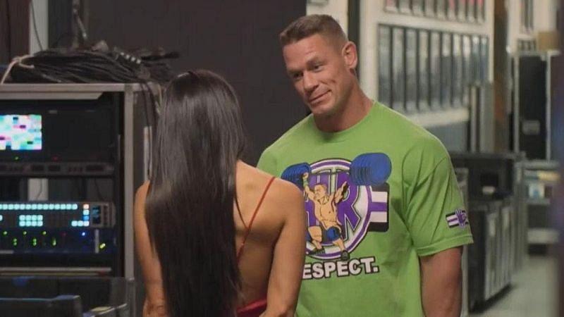 Image result for john cena and nikki bella meet backstage after their break up