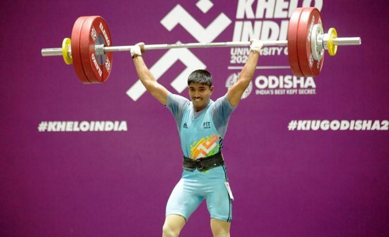 Gold medal winner, Sanket Mahadev Sagar