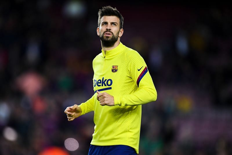 Gerard Pique gave Barcelona an injury scare