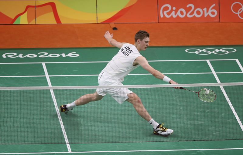 Axelsen had to play a three-game match in first-round