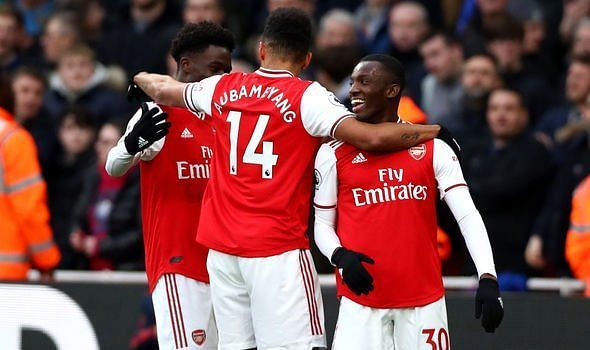 Arsenal defeated Everton 3-2 at the Emirates