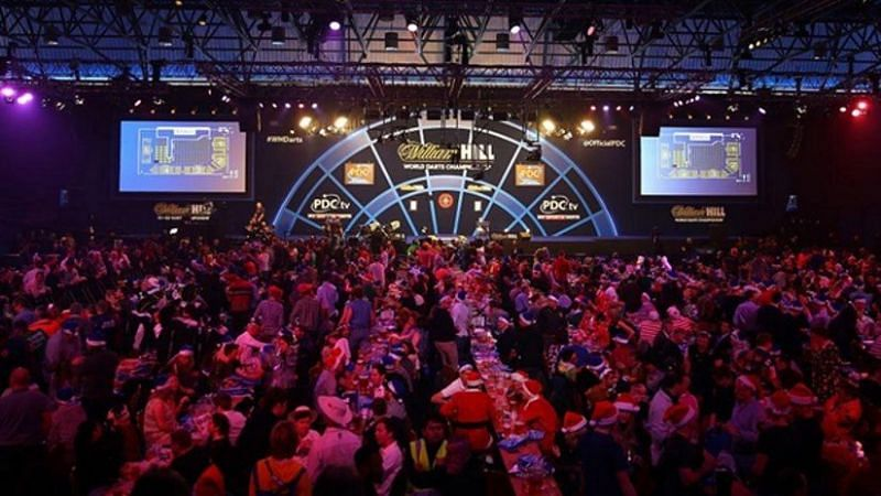 The Darts World Championships at the Alexandra Palace in London.