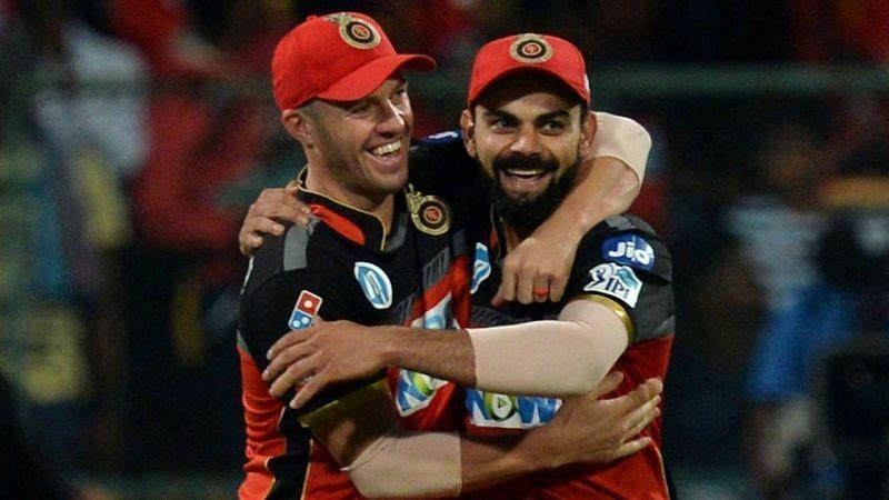 AB de Villiers (left) and Virat Kohli (right)