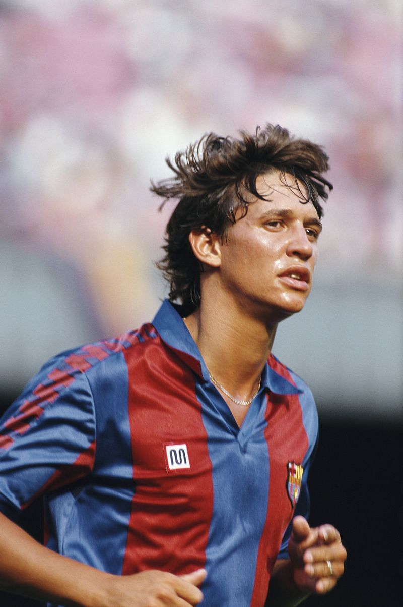 Gary Lineker with Barcelona in 1986