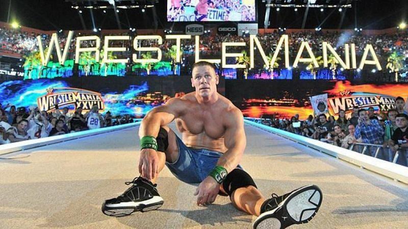 John Cena headlined five WrestleMania events