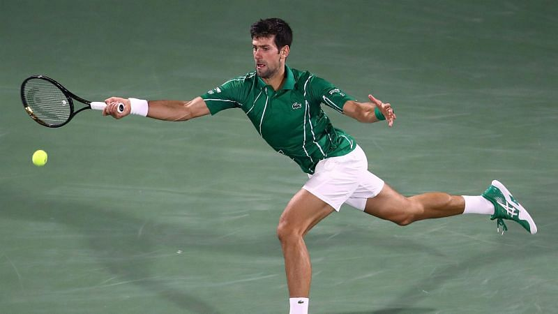 Novak Djokovic at the Dubai Tennis Championship