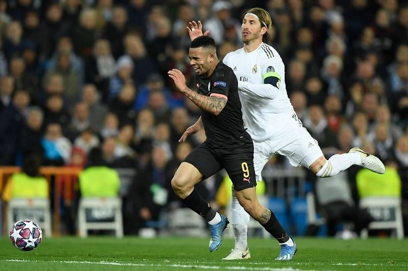 Ramos will miss the second leg following his red card against Manchester City