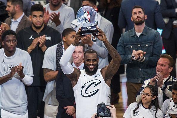 LeBron won three All-Star Game MVPs, all as a Cavalier