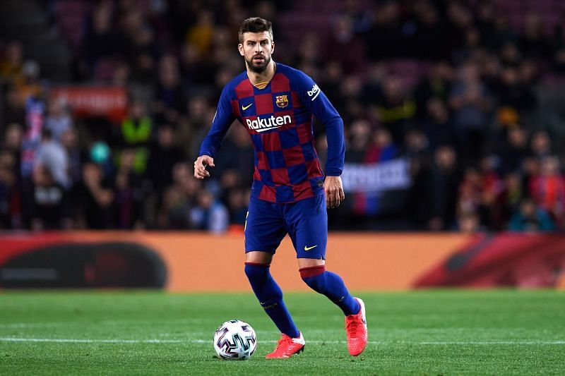 Pique was injured late in the clash with Athletic Bilbao