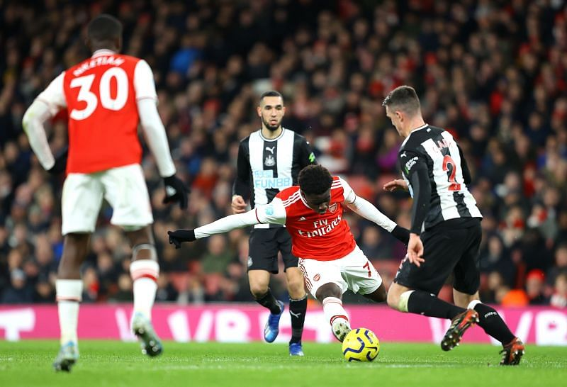 Bukayo Saka has done exceedingly well despite playing out of position