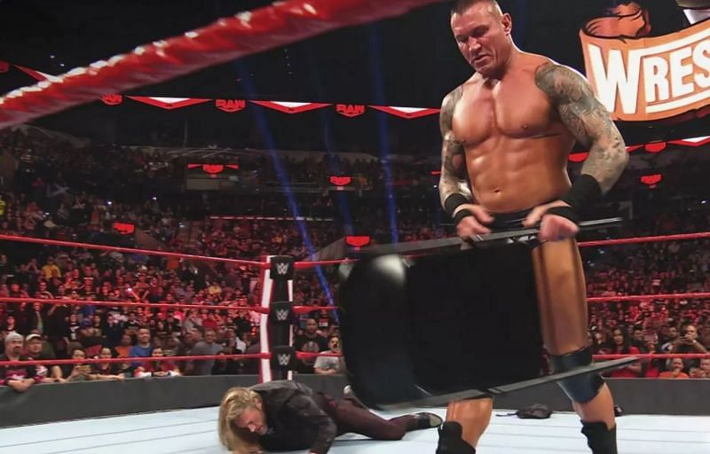 Edge was attacked by Randy Orton on RAW