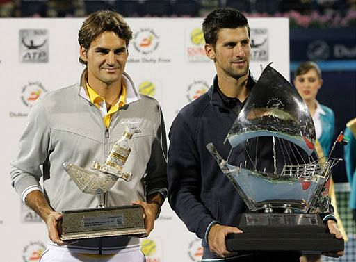 Djokovic beats Federer to win a three peat in Dubai