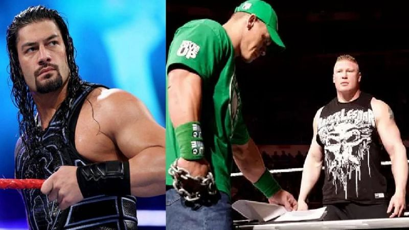 Reigns, Cena, and Lesnar