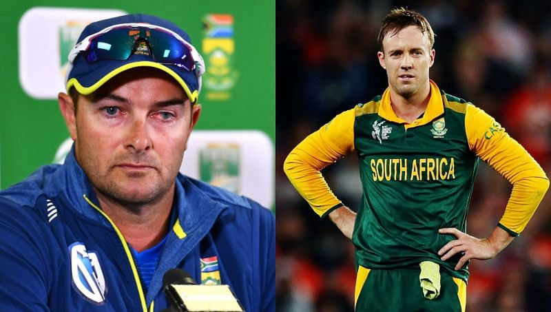 Head Coach Mark Boucher and AB de Villiers