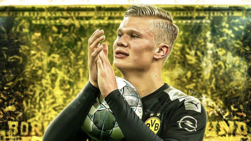 Erling Haaland scored with his first touch on his Dortmund debut against Augsburg.