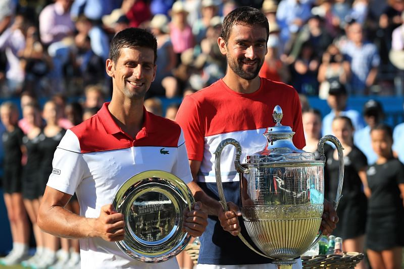 Cilic defeated Djokovic in the final to lift the title at Queen