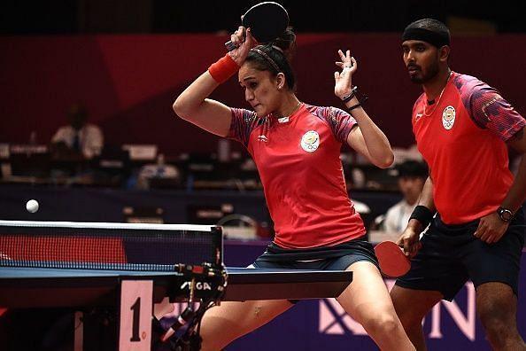 Manika Batra and Sharath Kamal - Through to mixed doubles semi-finals