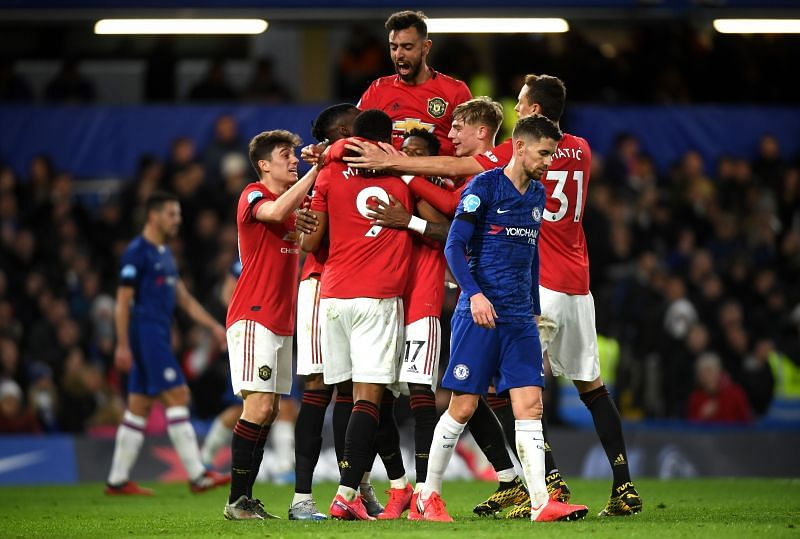 Manchester United registered a 2-0 win over Chelsea at Stamford Bridge on Monday