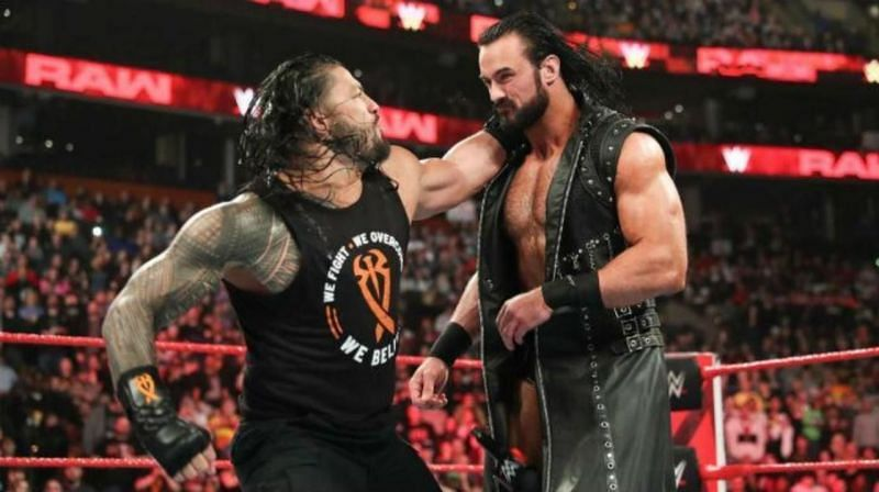 Roman Reigns and Drew McIntyre have wrestled each other several times in the past