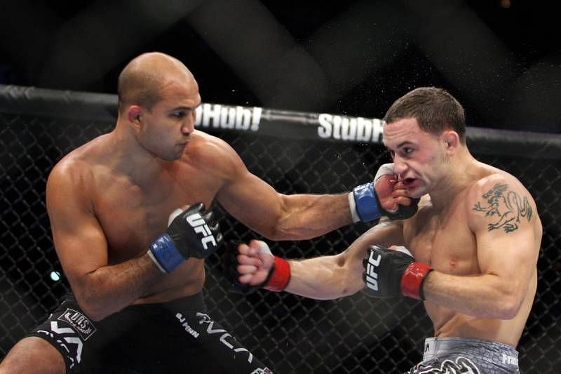 Frankie Edgar took BJ Penn's Lightweight title in controversial fashion in 2010