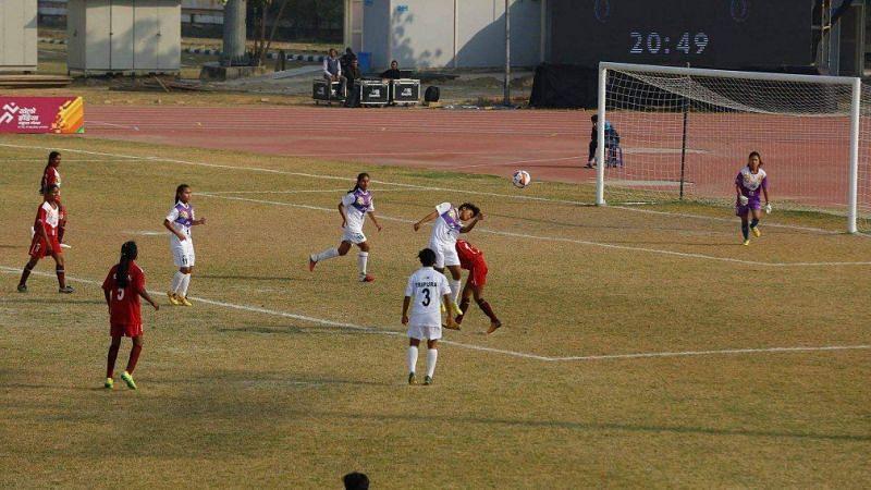 Football action from the KIYG