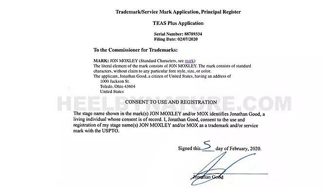 The consent form that Moxley signed (Courtesy: HeelByNature)