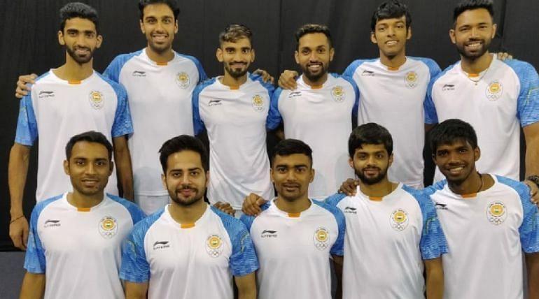 Indian team members.