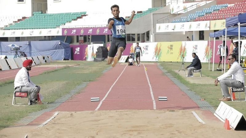 The athletics action carried on at the Khelo India University Games 2020