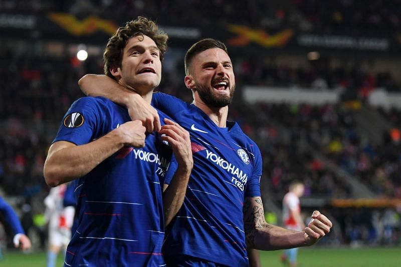 Alonso with Giroud who has not been a regular starter