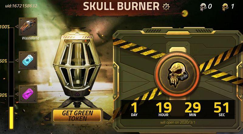 Skull Burner Bar