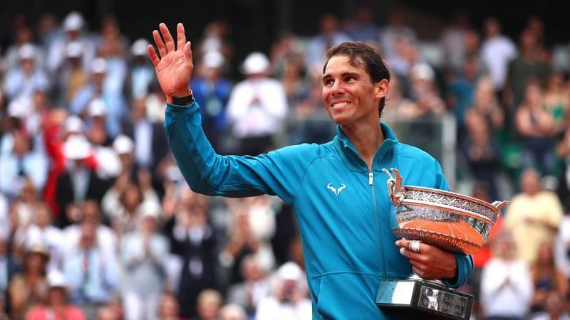 Nadal exults after winning his 17th Grand Slam title at 2018 Roland Garros